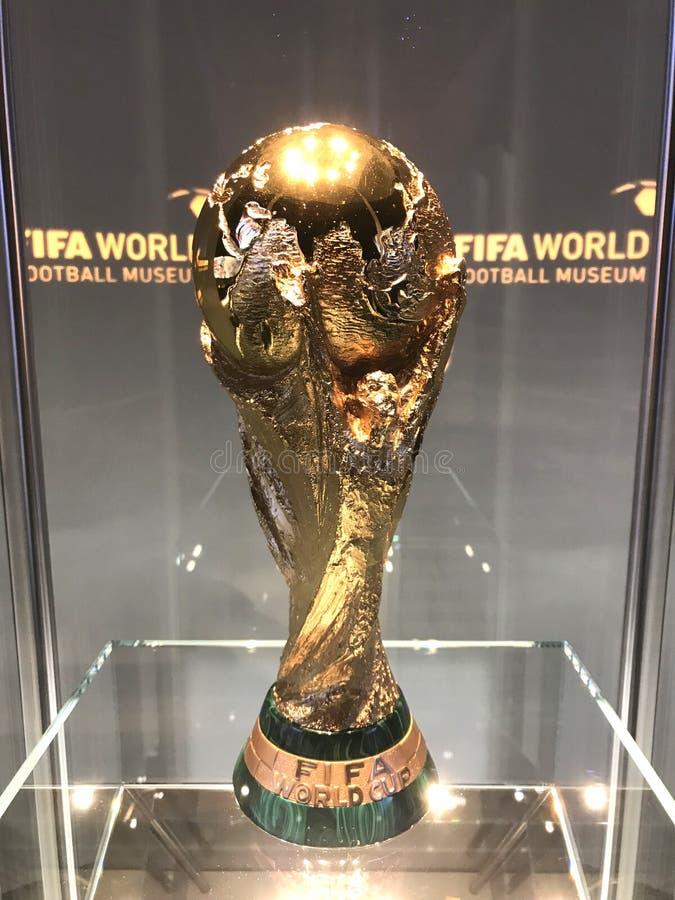 2018 Fifa-wereldbeker winner's trofee stock afbeelding