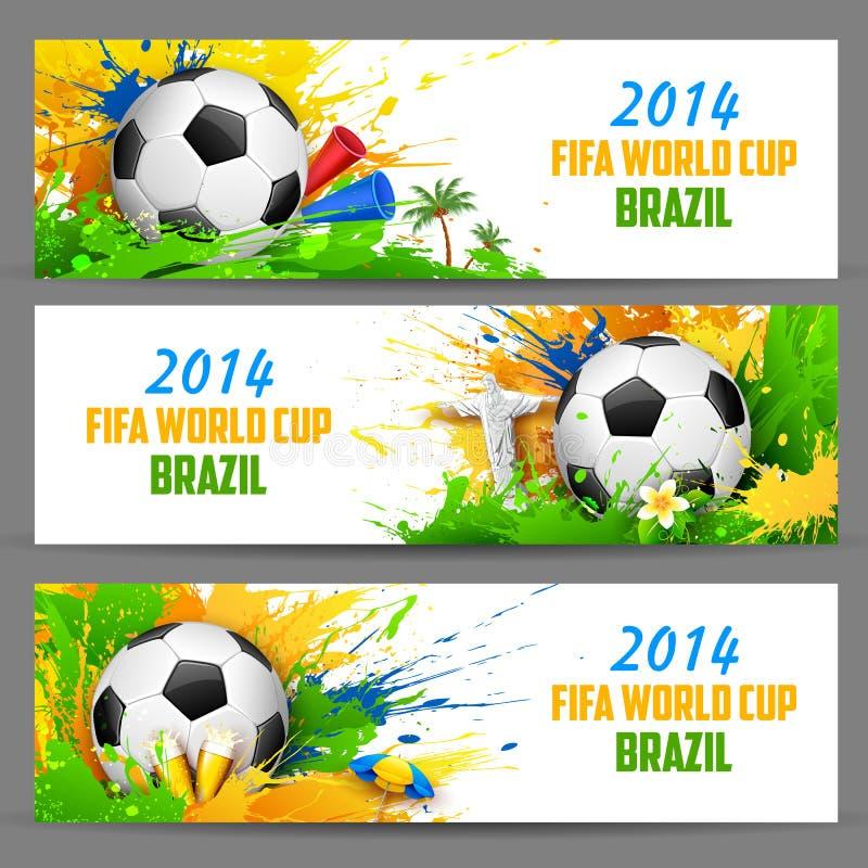 FIFA World Cup banner stock illustration