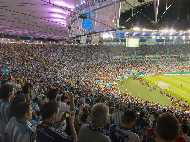 2014 FIFA World Cup Brazil - Argentina vs Bosnia and Herzegovina stock photos