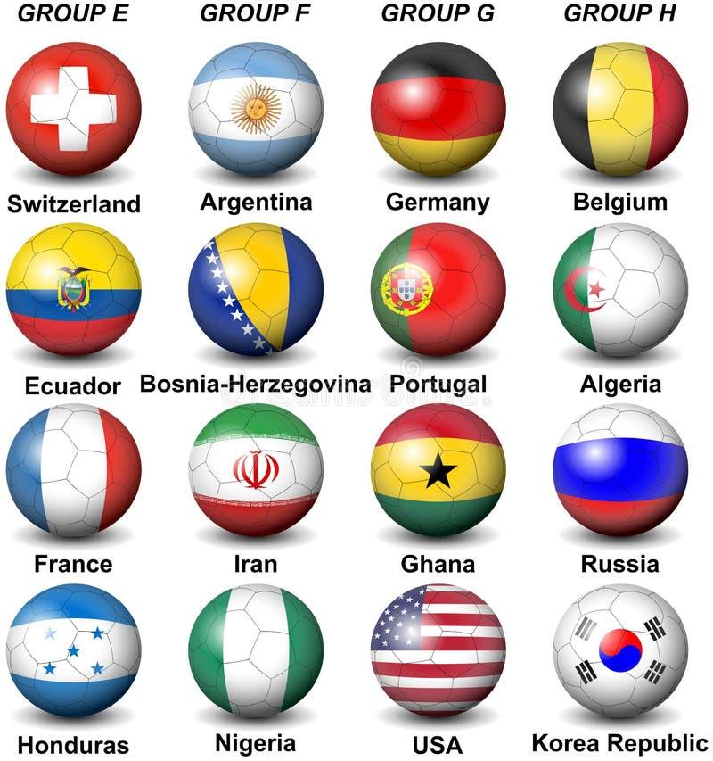 2014 Fifa World Cup Brazil Groups stock illustration