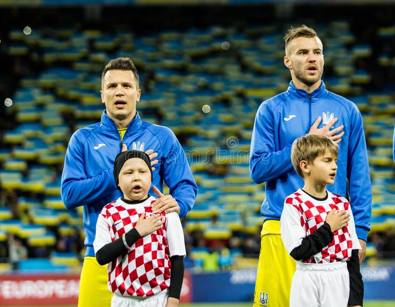FIFA World Cup 2018 match Ukraine - Croatia. royalty free stock photography