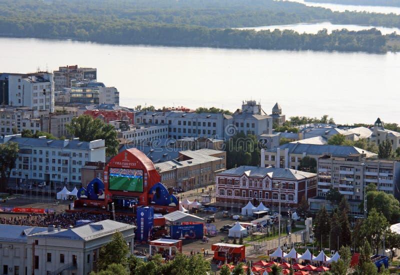 FIFA zabawy fest w Samara, Rosja obraz royalty free