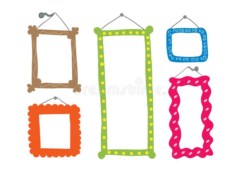Cute frames royalty free illustration