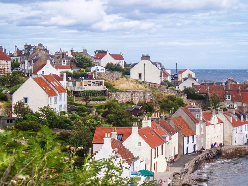 Scotland, east coast, typical picturesque Fife village on North Sea stock photos