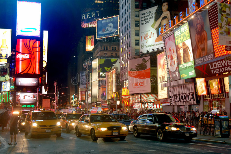 Fifht Avenue in NYC stock photography