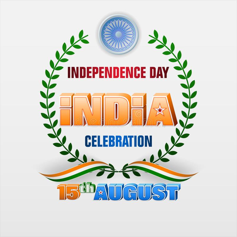 Fifteenth Sierpień, świętowanie dzień niepodległości w India royalty ilustracja