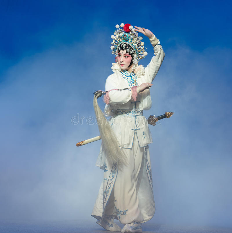 """The fifth act Steal immortal-Kunqu Opera""""Madame White Snake"""". Legend of the White Snake is one of the most famous tales spreading out amongfolks in royalty free stock photo"""