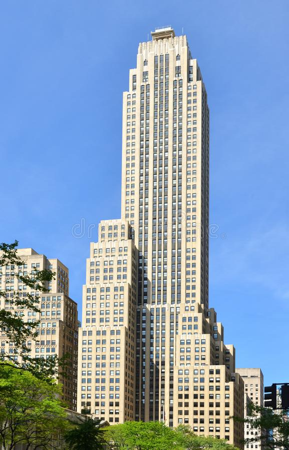 500 Fifth Avenue, 60-floor, 697-foot-tall 212 m office building, in Midtown Manhattan, New York City. Skyscraper was built from royalty free stock photos