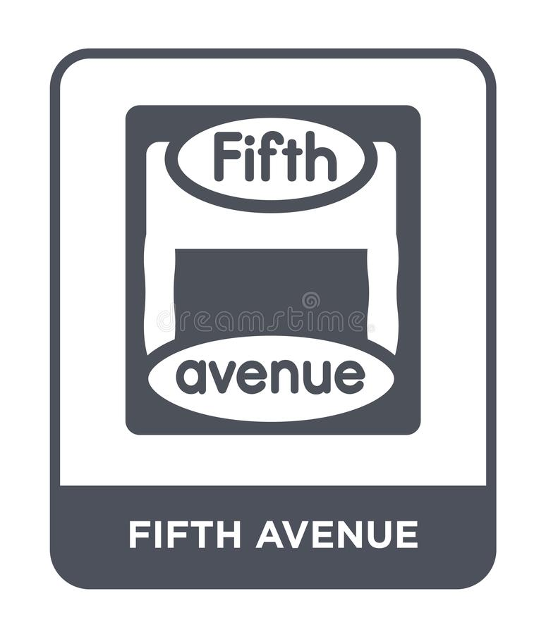 Fifth avenue icon in trendy design style. fifth avenue icon isolated on white background. fifth avenue vector icon simple and. Modern flat symbol for web site vector illustration