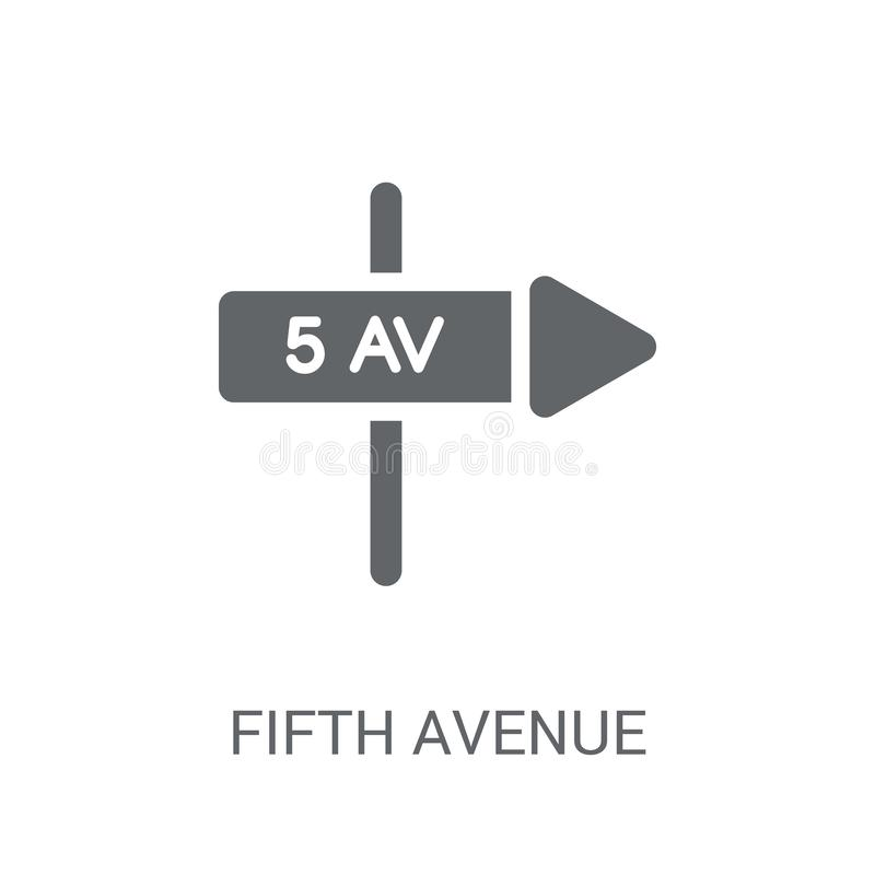 Fifth avenue icon. Trendy Fifth avenue logo concept on white background from United States of America collection. Suitable for use on web apps, mobile apps and royalty free illustration