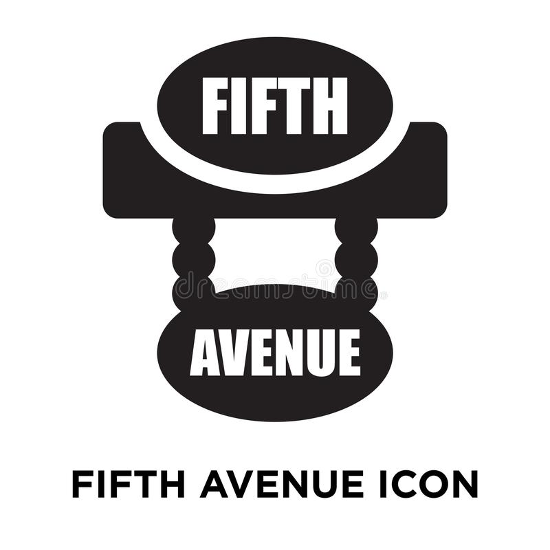 Fifth avenue icon vector isolated on white background, logo concept of Fifth avenue sign on transparent background, black filled. Fifth avenue icon vector vector illustration