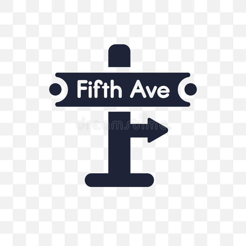 Fifth Avenue przejrzysta ikona Fifth Avenue symbolu projekt od U royalty ilustracja