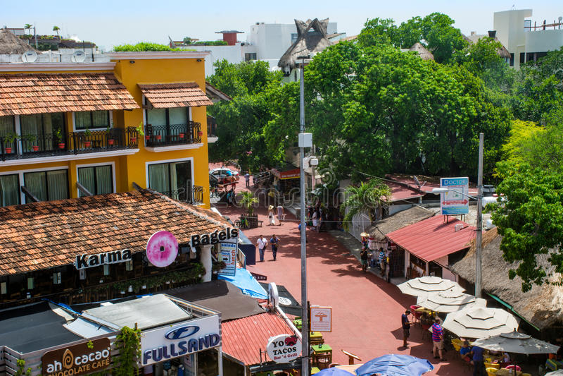 Fifth Avenue w playa del carmen Meksyk obrazy royalty free