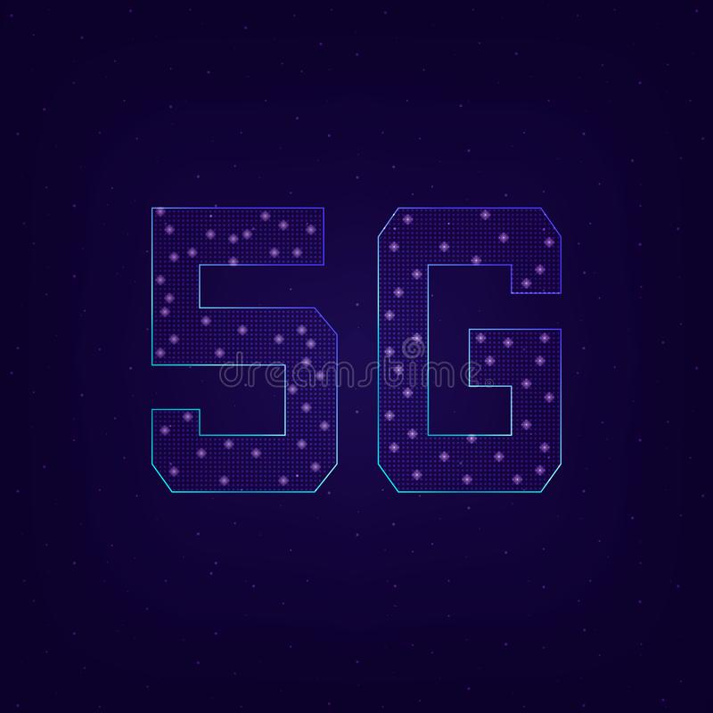 Fifth generation wireless 5G stock illustration