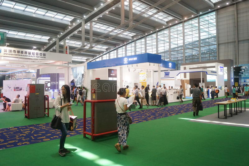 The fifth Shenzhen international charging station (pile) technology and Equipment Exhibition royalty free stock photos