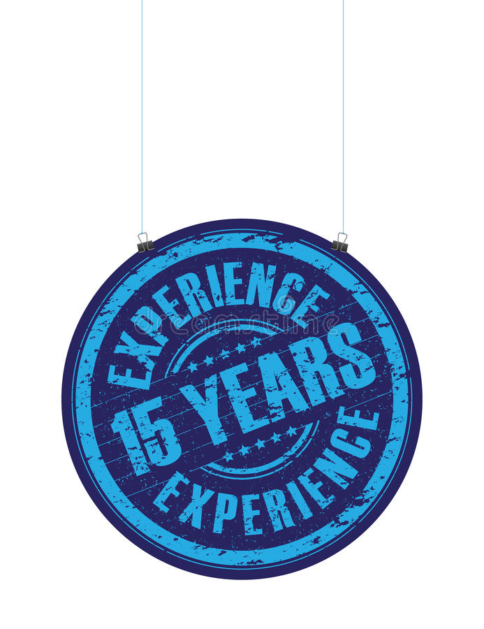 Fifth teen years experience stamp vector illustration
