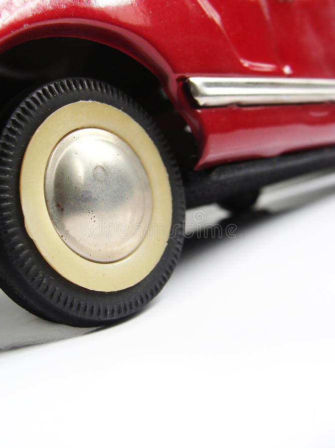 Free Fifties 50   S Red Tin Toy Car Wheel Royalty Free Stock Image - 22195456