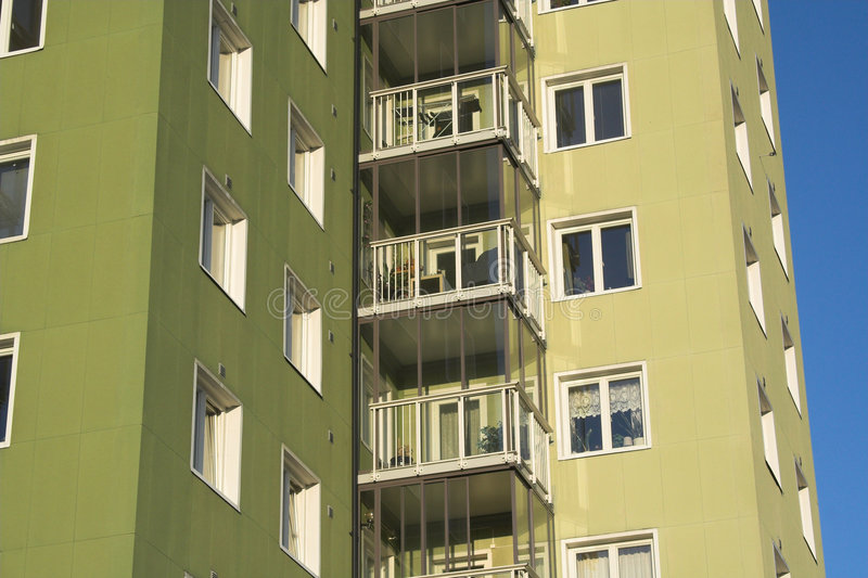Download Fifties apartments stock image. Image of block, apartments - 3465655