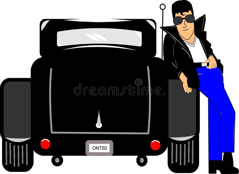 Download Fifties dude stock illustration. Image of greaser, illustration - 26377032