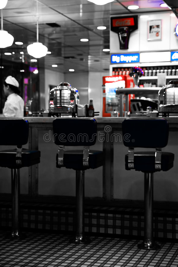 Free Fifties Hamburger Bar Stock Image - 6640301