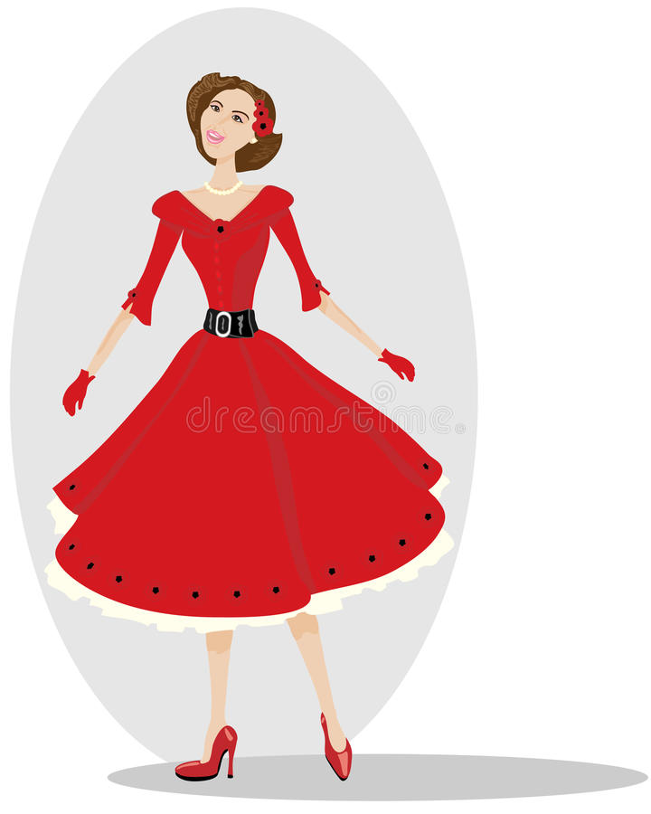 Download Fifties style stock vector. Image of female, copyspace - 15676839