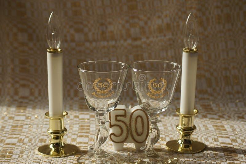 Fiftieth (50th) rocznica zdjęcia stock