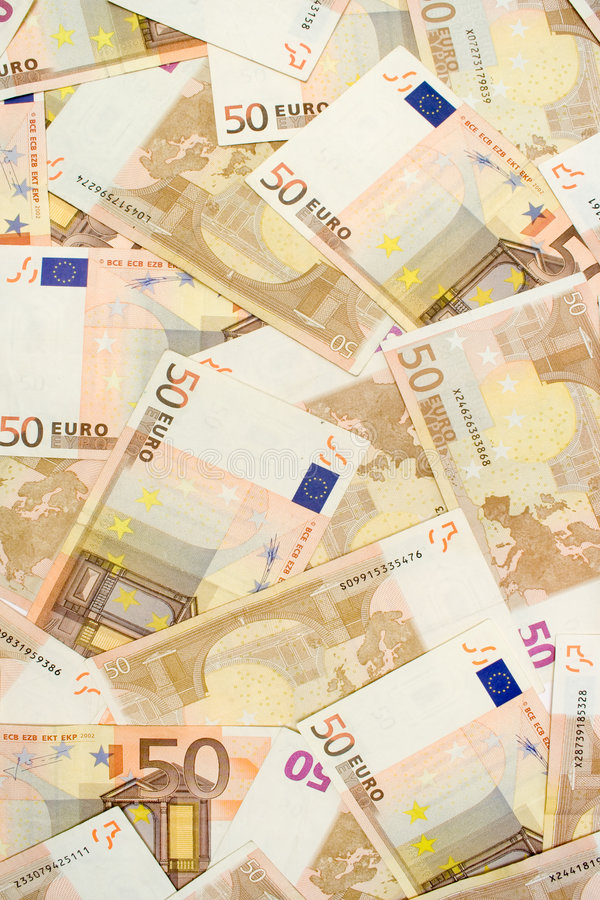 Download Fifty Euro Banknotes stock image. Image of background - 2303237
