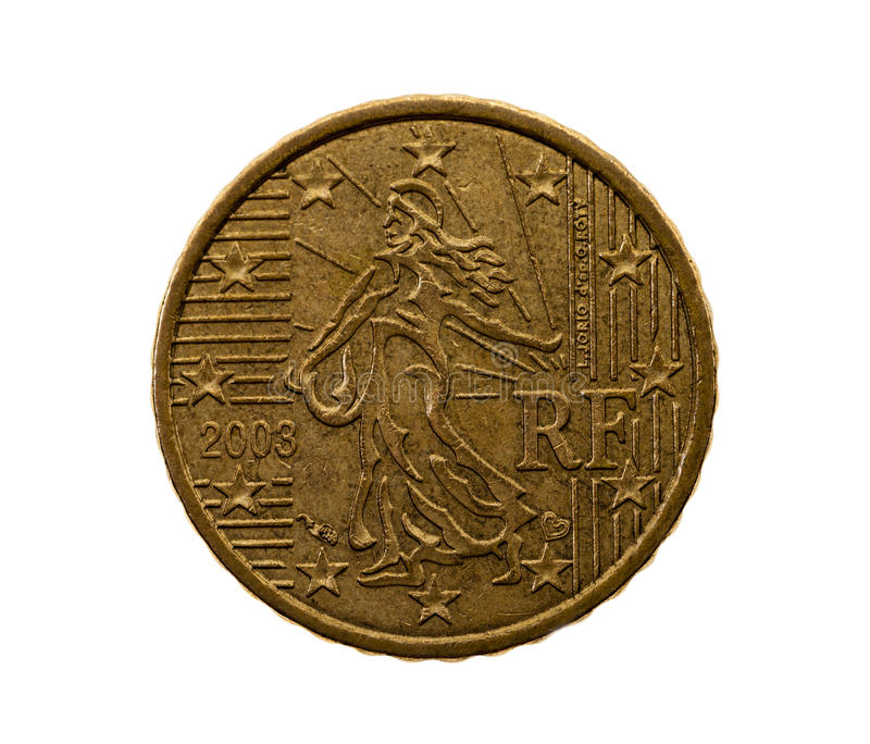 Fifty euro cents stock images