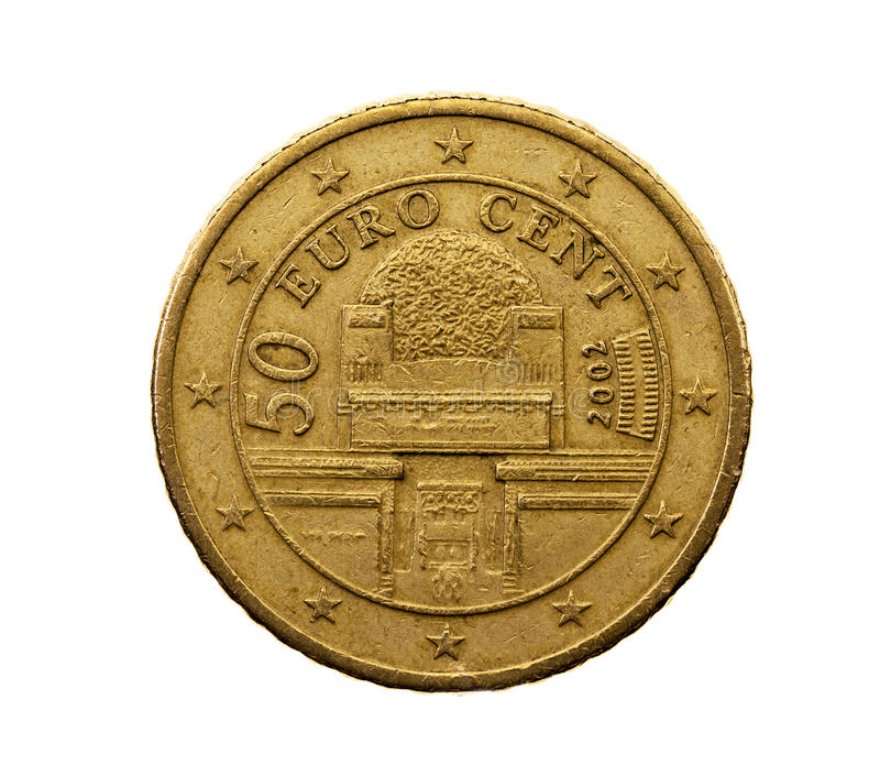 Fifty euro cents royalty free stock photography