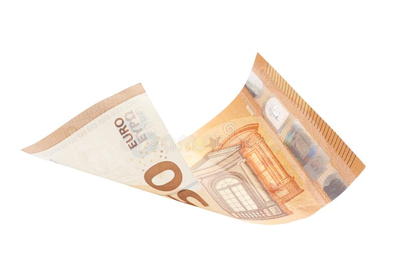 Fifty euro isolated on white background royalty free stock images