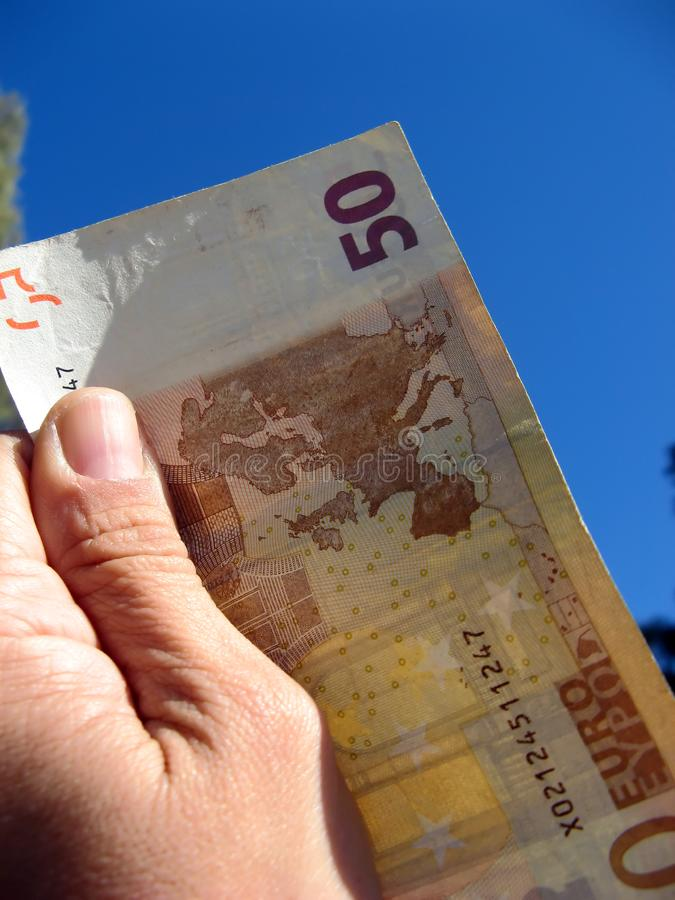 Download Fifty euros stock image. Image of money, finance, bill - 3305071