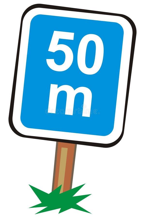 Download Fifty meters stock vector. Image of wood, nule, meters - 3804881