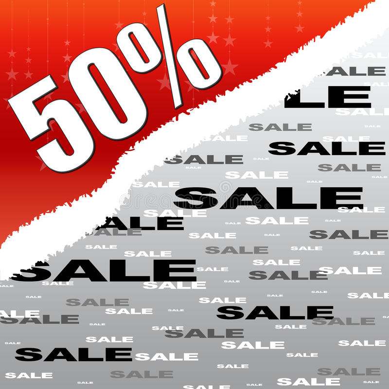 Download Fifty Percent Discount And Sale Poster Stock Illustration - Image: 11456388