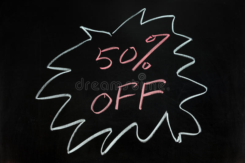 Download Fifty percent off stock image. Image of business, announcement - 22942483
