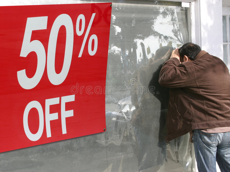 Fifty percent off sale stock photography