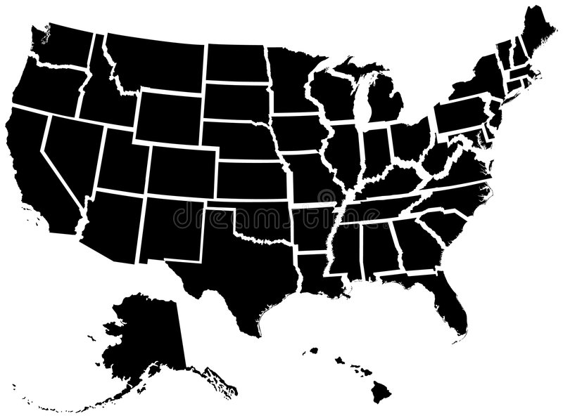 Fifty United States vector illustration