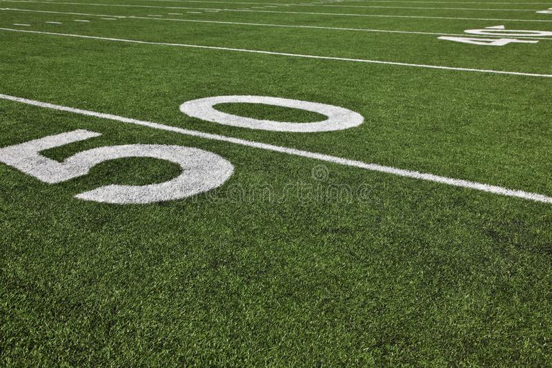 Fifty Yard Line stock photography