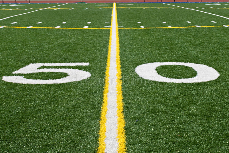 Download Fifty Yard Line stock photo. Image of competitive, green - 6575616