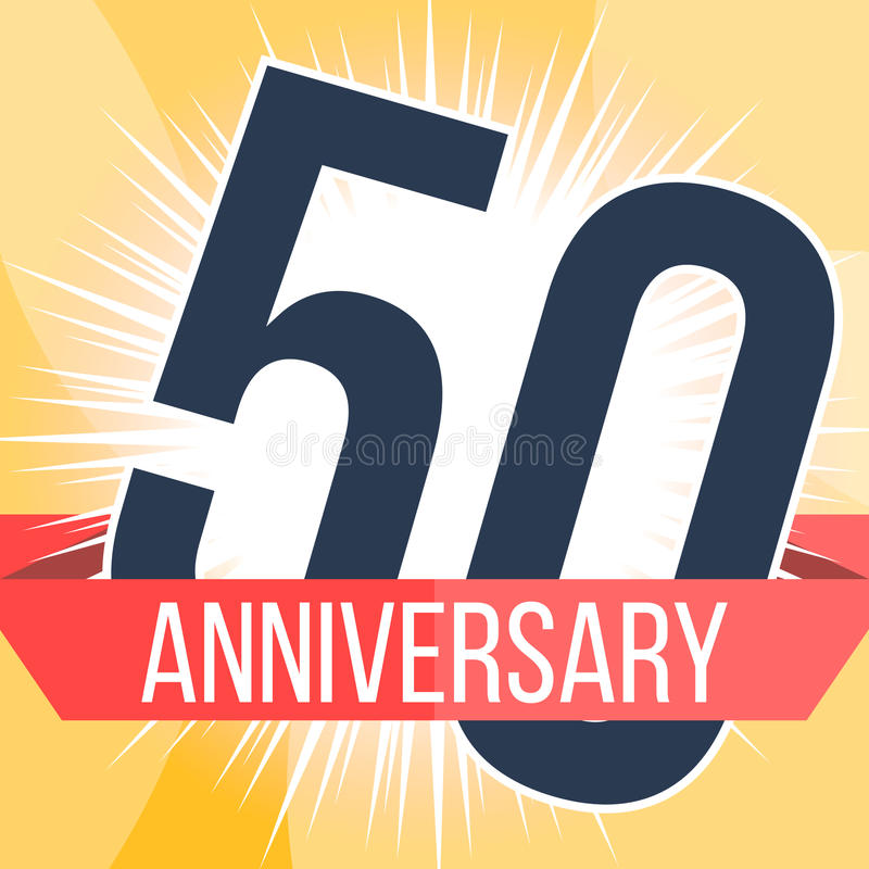fifty years anniversary banner 50th anniversary logo vector rh dreamstime com 50th anniversary logo templates free 50th anniversary logo design
