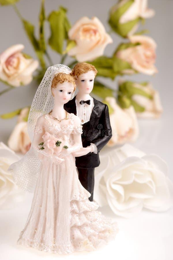 Figürchen der Hochzeitspaare lizenzfreie stockbilder