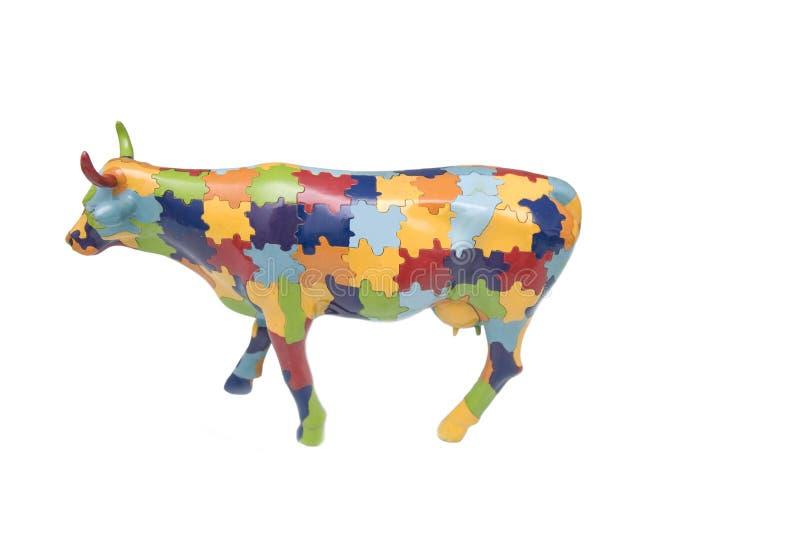 Figürchen eine Kuh lizenzfreie stockbilder