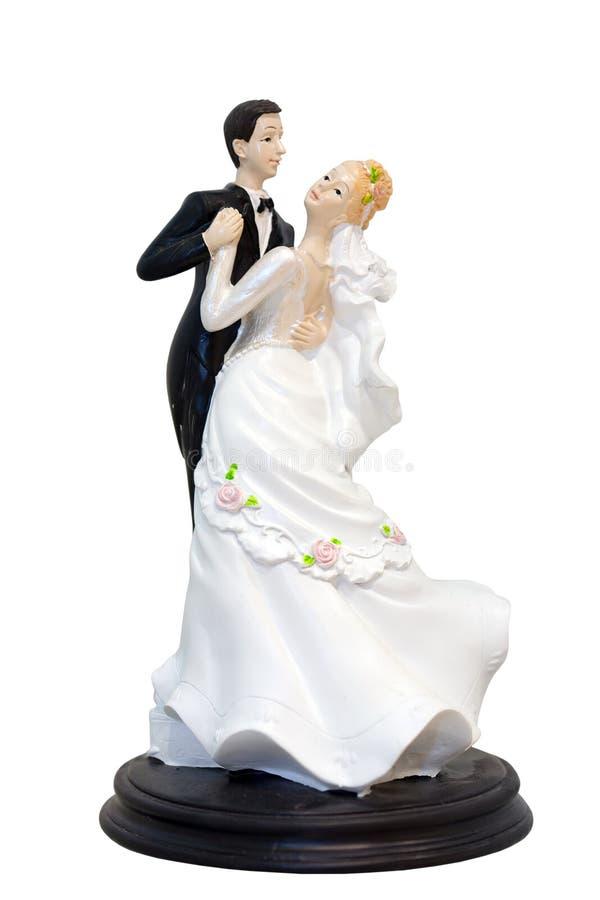 Figürchen eines Hochzeitspaares stockfotos