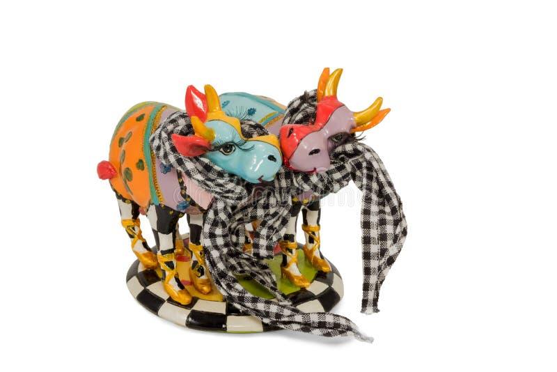 Figürchenkuhliebhaber stockbild