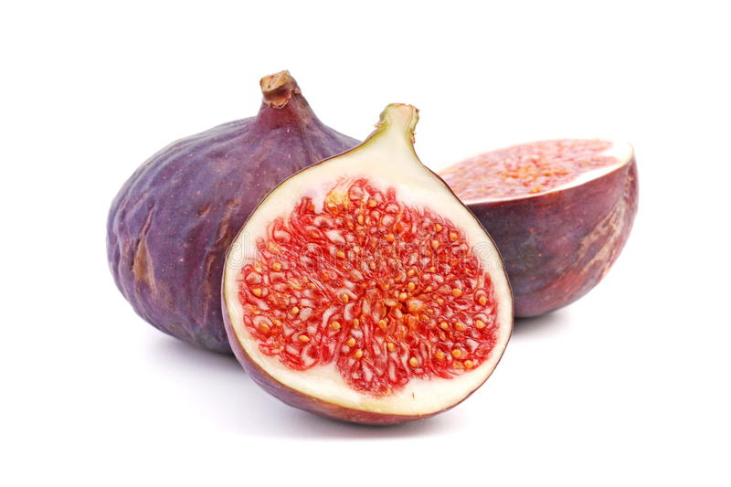 Fig. Fresh fig on a white background
