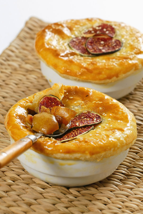 Fig dessert. Fresh fig dessert for two persons stock image