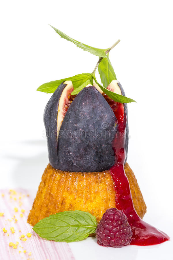 Fig Dessert Royalty Free Stock Image
