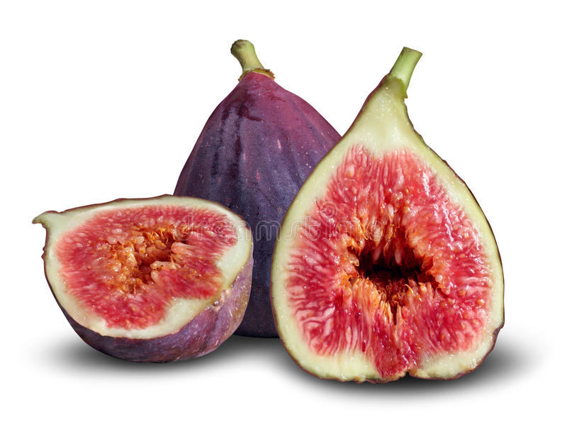 Fig Fruit. Concept as a group of fresh figs in a symbol of good nutrition and eating healthy food royalty free stock image