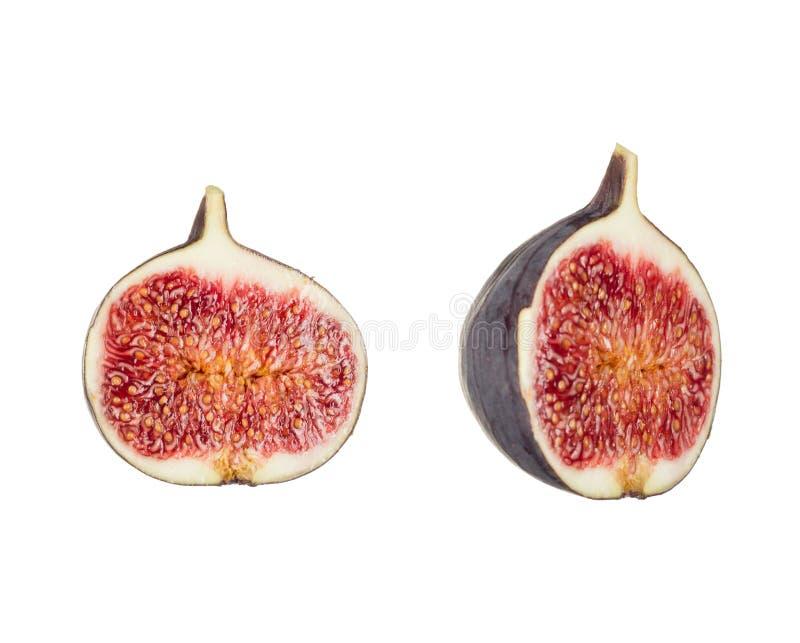Fig fruit isolated white background close up. stock image