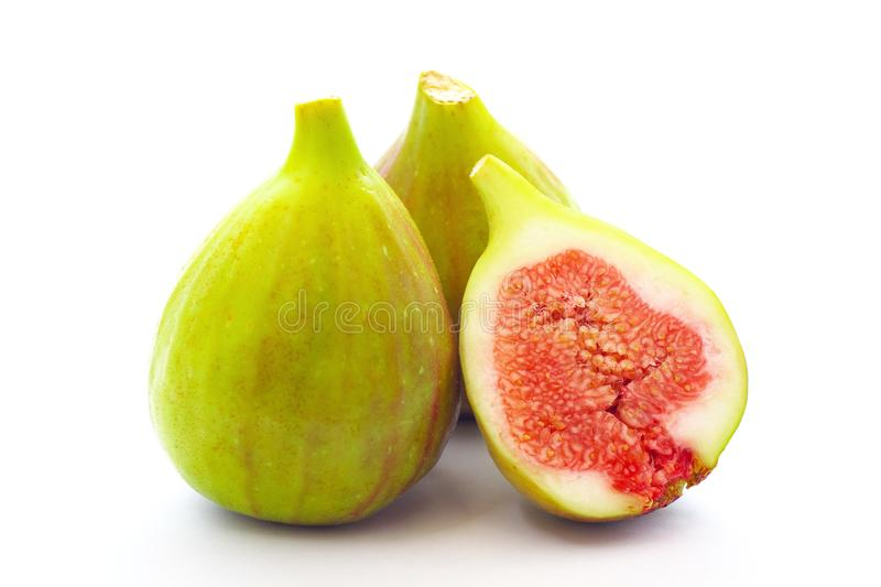 Fig fruits on white background stock images