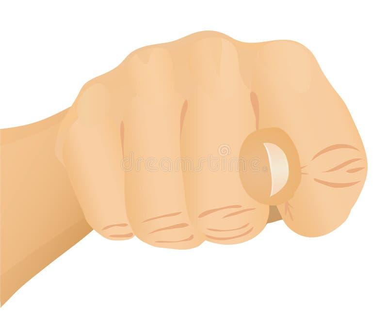 fig gestem ręki ilustracja wektor